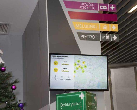 Katowice z systemem monitorującym powietrze
