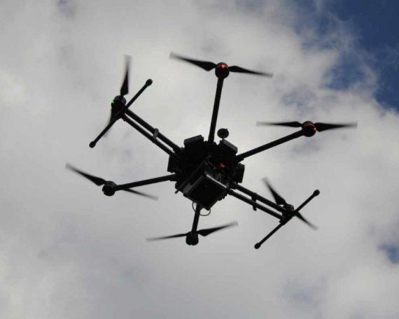 monitoring powietrza i dron