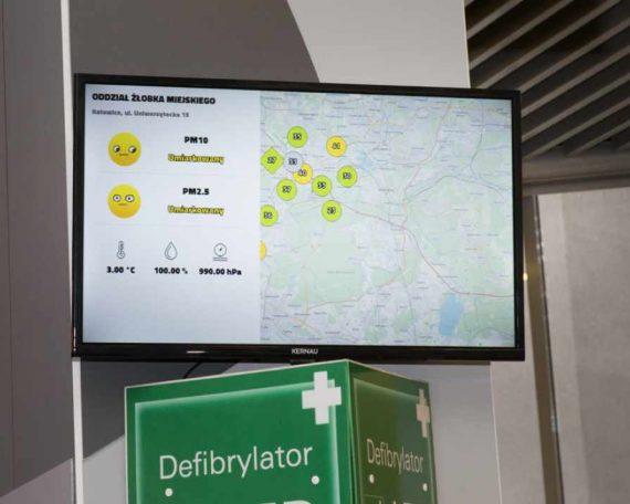 Czujniki powietrza zainstalowane w Katowicach